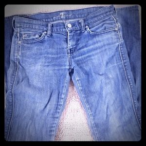7 For All Man Kind Skinny Blue Jeans Size 28